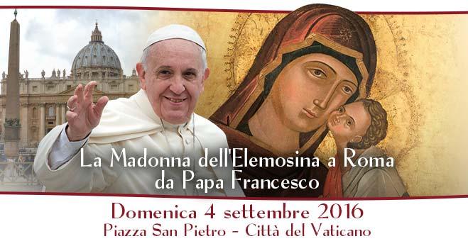 La Madonna dell'Elemosina a Roma da Papa Francesco