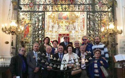 """Delegazione """"Lions"""" in visita alla Basilica della Madre dell'Elemosina."""