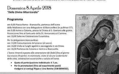 La Madonna dell'Elemosina pellegrina a Catania