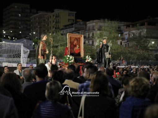 Momento di preghiera con i Santi Patroni Maria SS. dell'Elemosina, San Placido e San Zenone per la supplica di liberazione dal terremoto