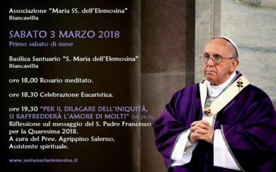 Il messaggio del Papa per la Quaresima