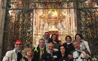 Motociclisti campani in visita al Santuario della Madonna dell'Elemosina
