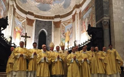 Ordinazioni diaconali della Chiesa catanese. Tra gli ordinati, il biancavillese Giosuè Messina.