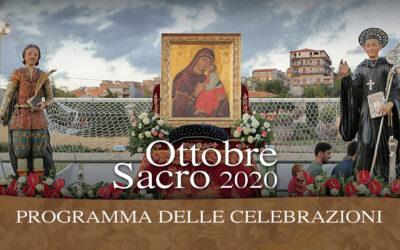 Programma Liturgico Ottobre Sacro 2020